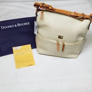 Dooney & Bourke Medium Zipper Pocket Sac in Bone